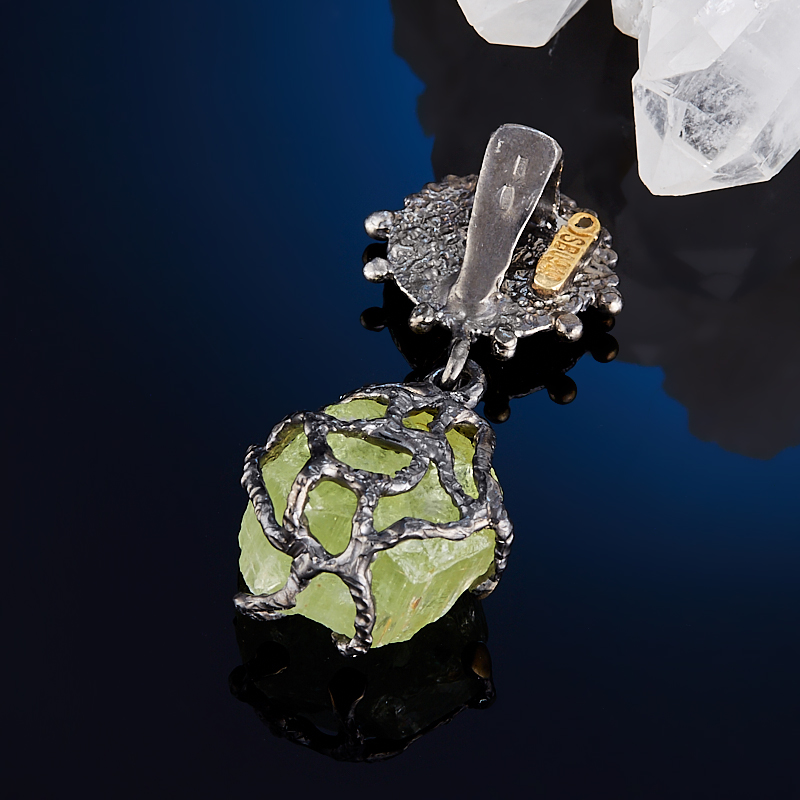 Кулон берилл желтый (гелиодор) Бразилия (серебро 925 пр., позолота)