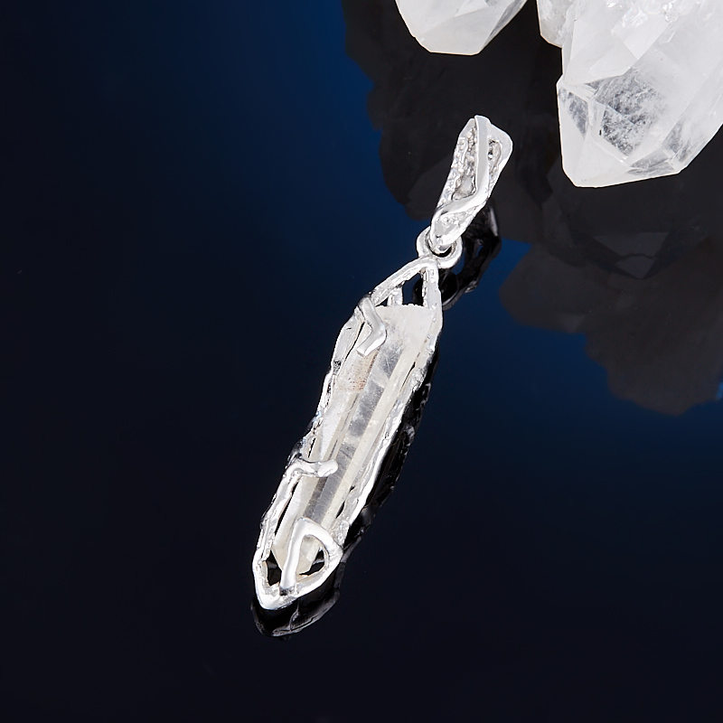 Кулон горный хрусталь  кристалл (серебро 925 пр., позолота)
