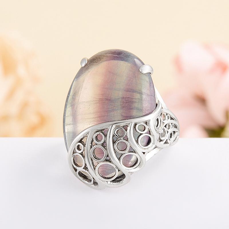 Кольцо флюорит (серебро 925 пр.) размер 18 кольцо авантюрин зеленый серебро 925 пр размер 18