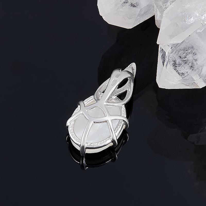 Кулон перламутр белый Индонезия камея (серебро 925 пр.)