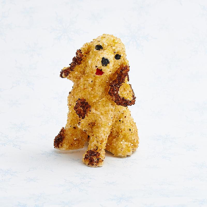 Собака янтарь 6 см