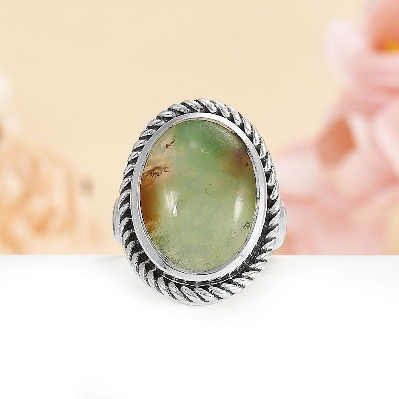 Кольцо хризопраз  (серебро 925 пр.) размер 16,5