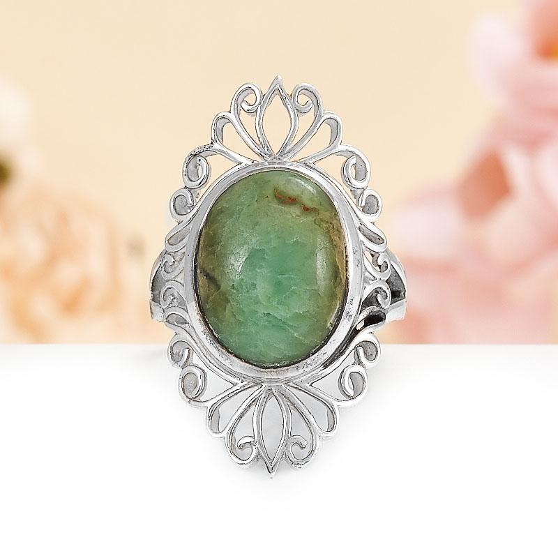 Кольцо хризопраз  (серебро 925 пр.) размер 17 кольцо авантюрин зеленый серебро 925 пр размер 18