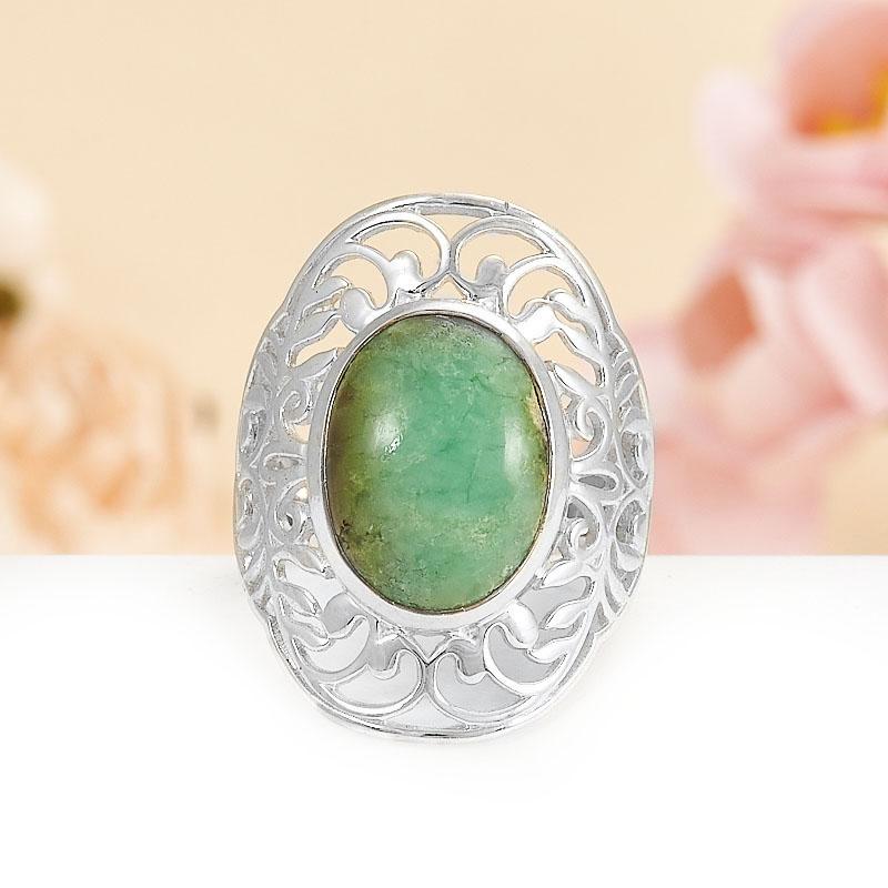 Кольцо хризопраз  (серебро 925 пр.) размер 18