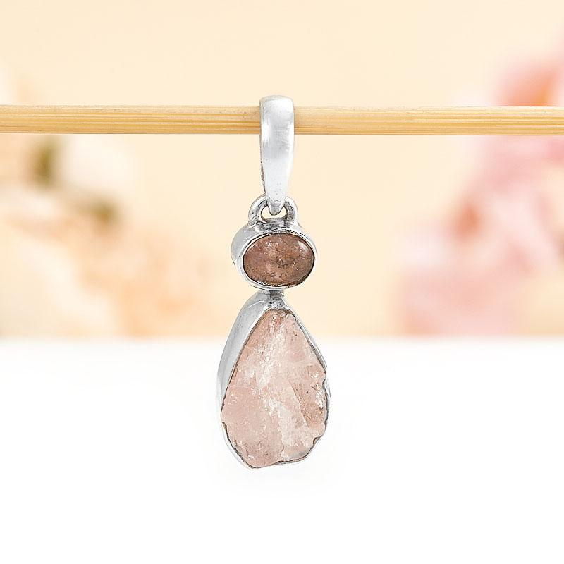 Кулон турмалин розовый (рубеллит)  (серебро 925 пр.) кабошон турмалин розовый рубеллит 9 мм