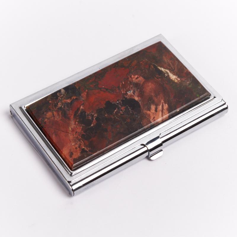 Визитница яшма уральская 6х9,5 см визитница razor лиловый