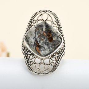 Кольцо астрофиллит Россия (серебро 925 пр.) размер 18