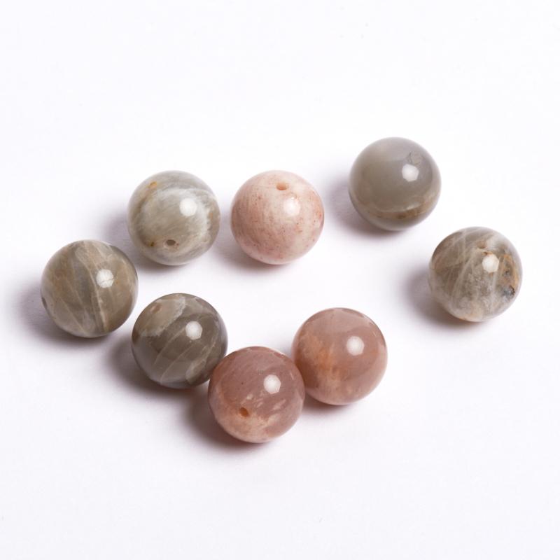 Бусина лунный камень  шарик 12,5 мм (1 шт) бусина унакит шарик 6 5 мм 1 шт