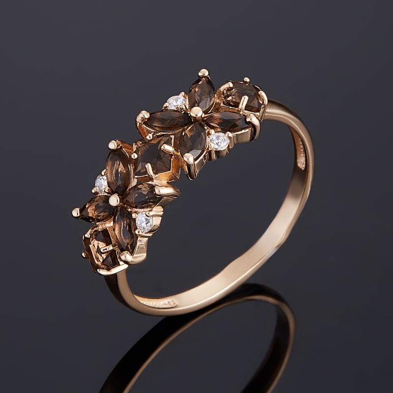 Кольцо раухтопаз (золото 585 пр.) размер 18