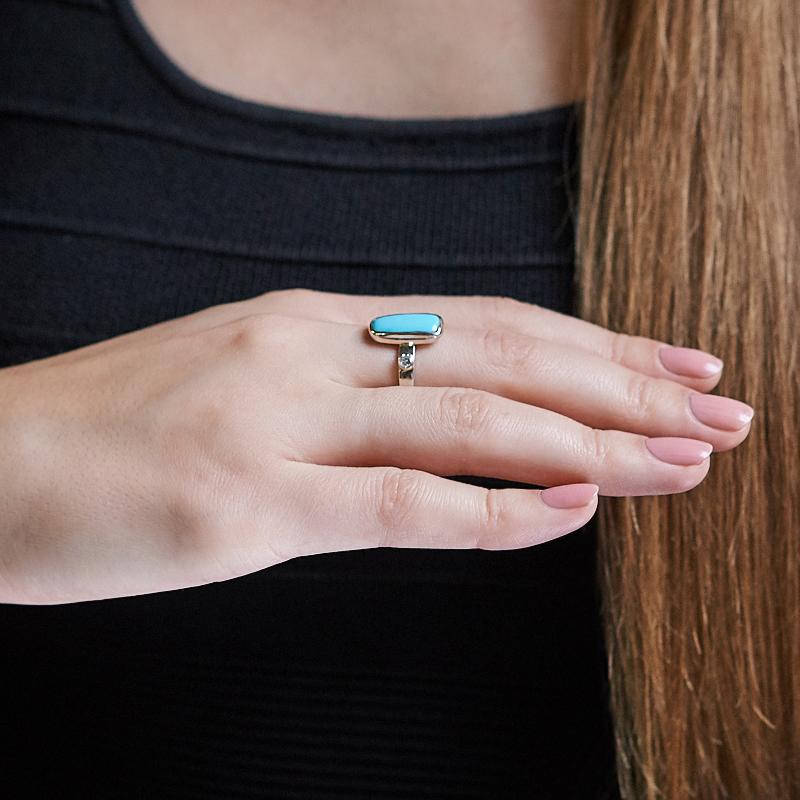 Кольцо бирюза США (серебро 925 пр.) размер 18,5