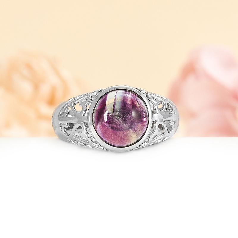Кольцо флюорит (серебро 925 пр.) размер 19