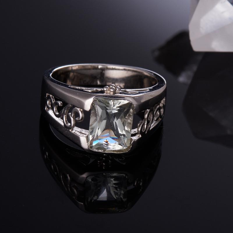 Кольцо празиолит  огранка (серебро 925 пр.) размер 18,5