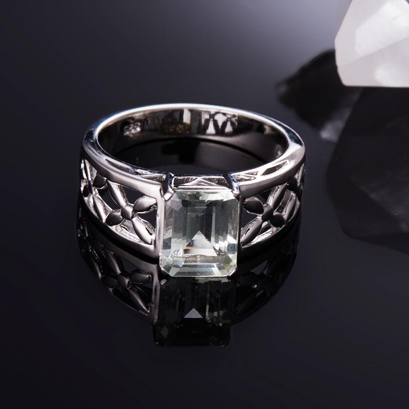 Кольцо празиолит  огранка (серебро 925 пр.) размер 18,5 кольцо авантюрин зеленый серебро 925 пр размер 18