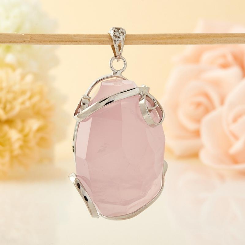 Кулон розовый кварц огранка 4-5 см кулон розовый кварц прямоугольник 5 см