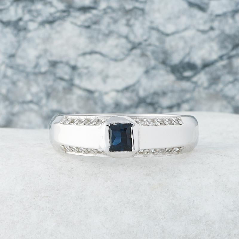 Кольцо сапфир  огранка (серебро 925 пр.) размер 20,5 кольцо авантюрин серебро 925 пр размер 20 5