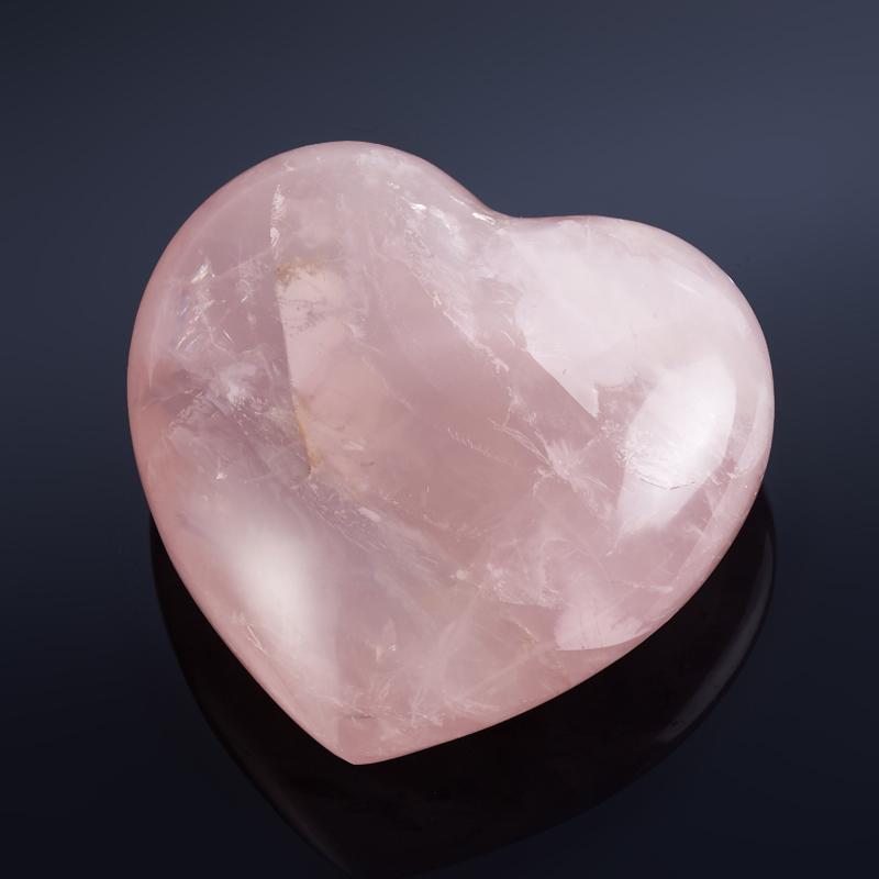 Сердечко розовый кварц  6-6,5 см