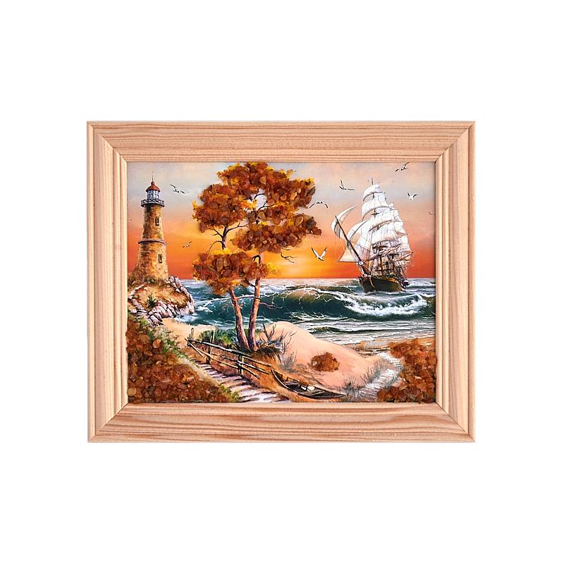 цены Картина Море янтарь 12х15 см