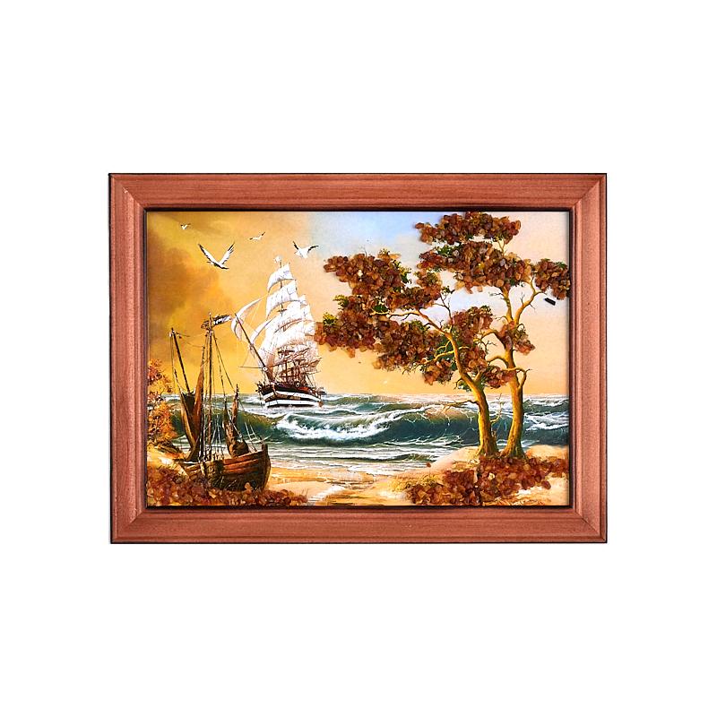Картина Море янтарь 15*21 см gangxun 21