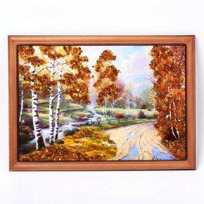 Картина Природа янтарь Россия 21х30 см