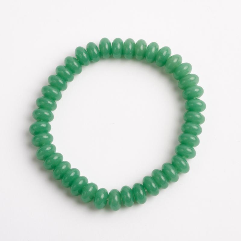 Браслет авантюрин зеленый  6 мм 16 см бусы авантюрин зеленый 42 см