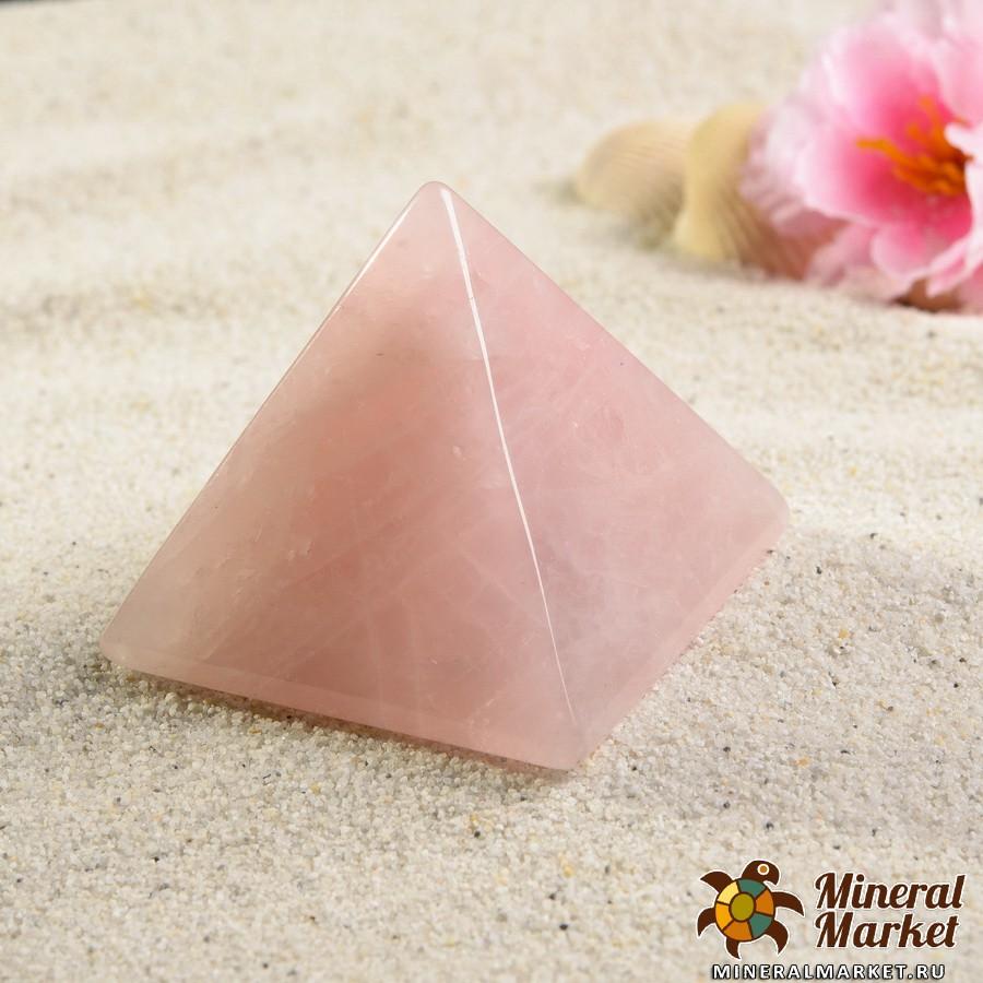 Пирамида розовый кварц  5 см пирамида шунгит лечебный 2 5 3 см