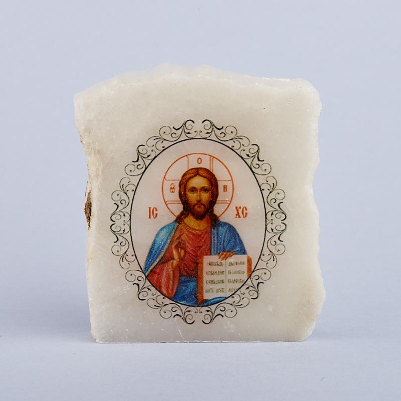 Изборажение Иисус Христос с молитвой селенит 5,5-6 см