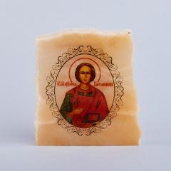 Изображение селенит Россия Пантелеймон Целитель с молитвой 5,5 см