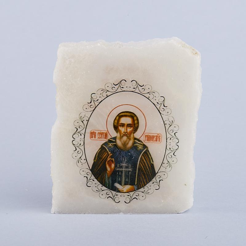 Срез с изображением Сергий Радонежский с молитвой селенит 5х5,5 см сергей виватенко сергий радонежский