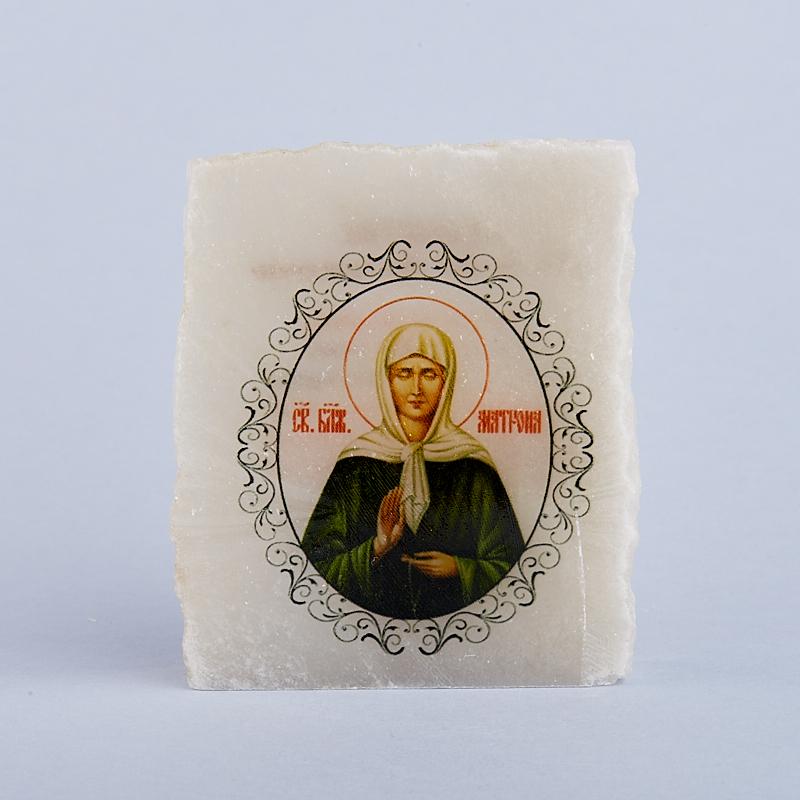 Изображение селенит Святая Матрона с молитвой 5,5-7 см