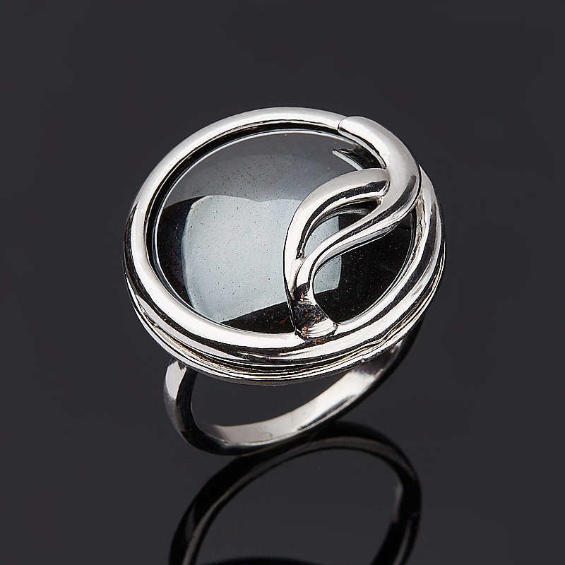 Кольцо гематит Бразилия (серебро 925 пр.) размер 20