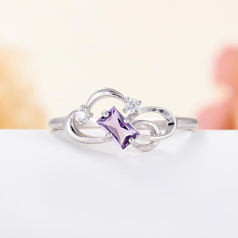 Кольцо аметист  огранка (серебро 925 пр.) размер 17 кольцо аметист серебро 925 пр размер 19 5