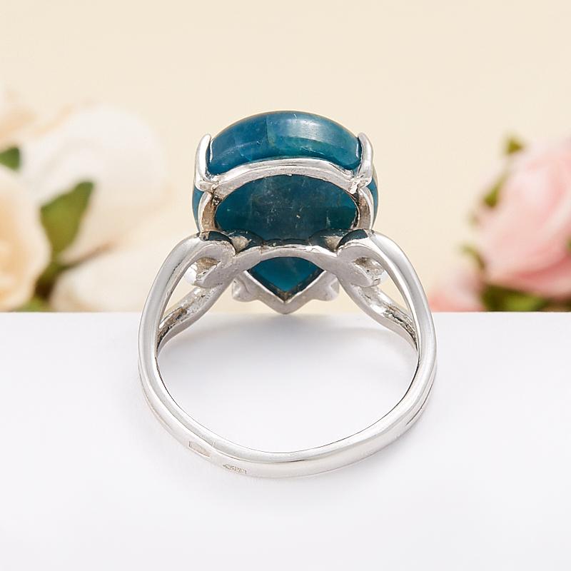 Кольцо апатит синий Бразилия (серебро 925 пр.) размер 16,5