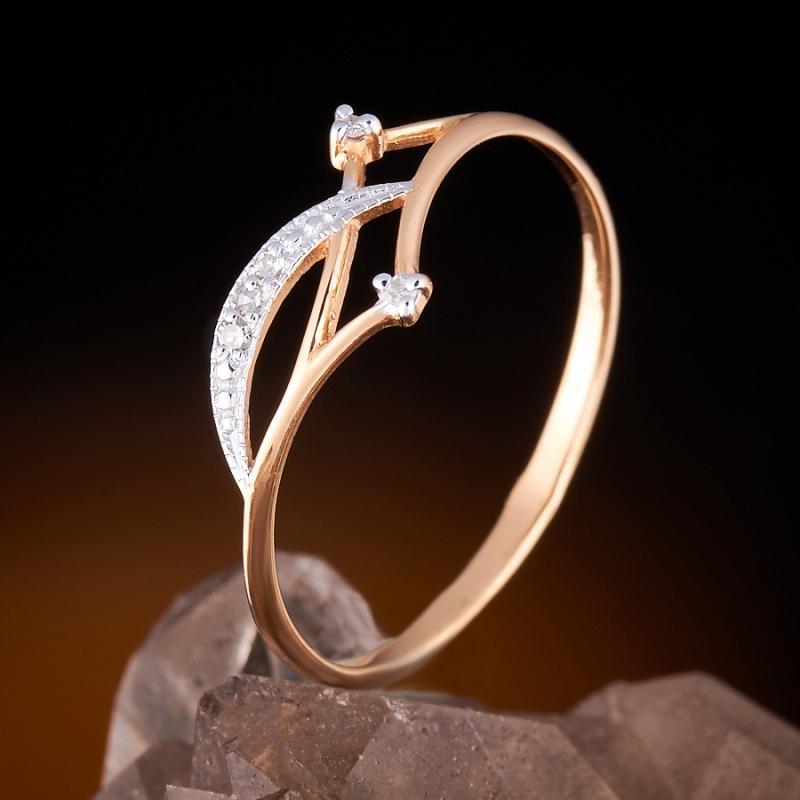 Кольцо бриллиант огранка (золото 585 пр.) размер 16