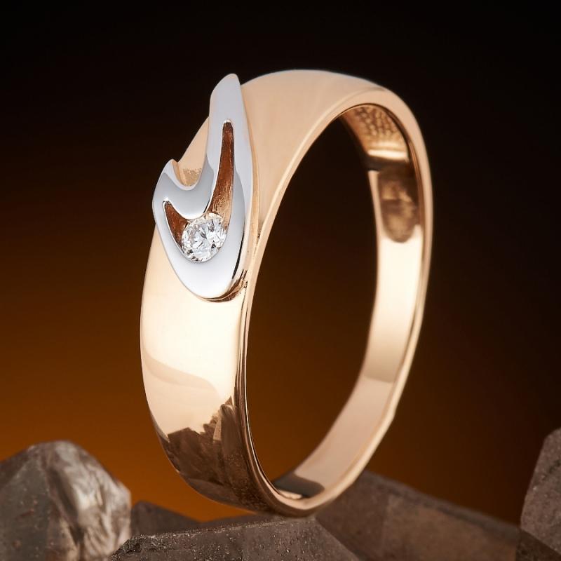 Кольцо бриллиант  огранка (золото 585 пр.) размер 17,5