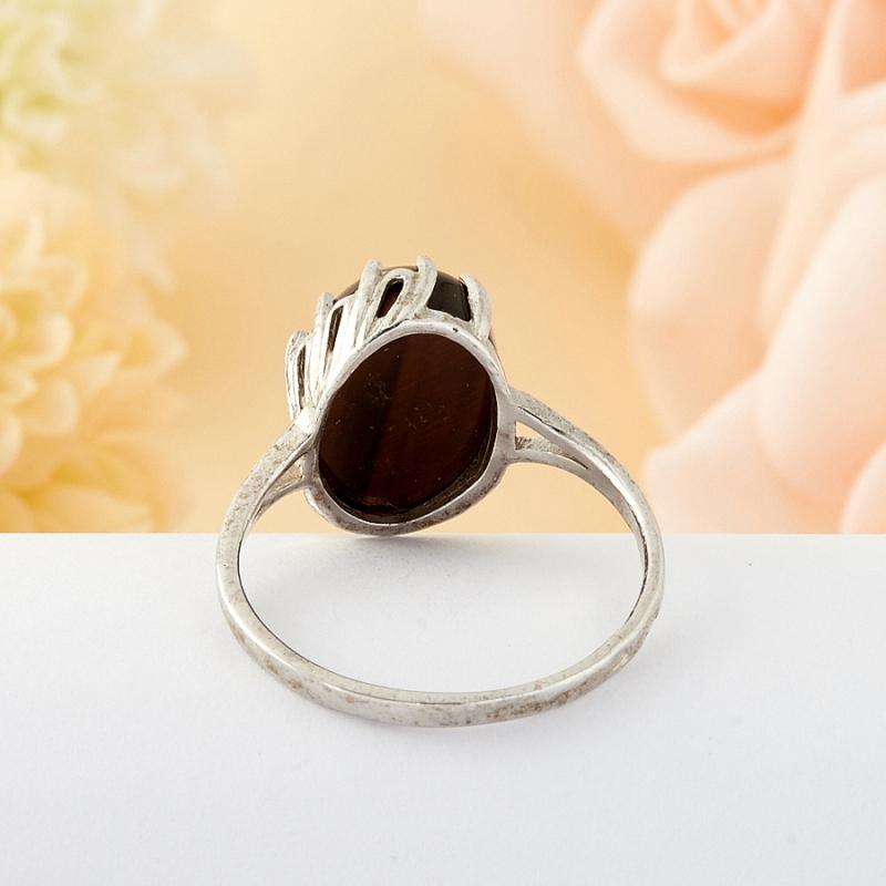 Кольцо бычий глаз ЮАР (серебро)  размер 18