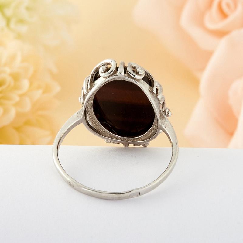 Кольцо бычий глаз ЮАР огранка (серебро) размер 19