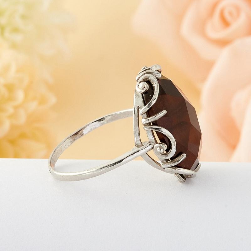 Кольцо бычий глаз ЮАР огранка (серебро) размер 21