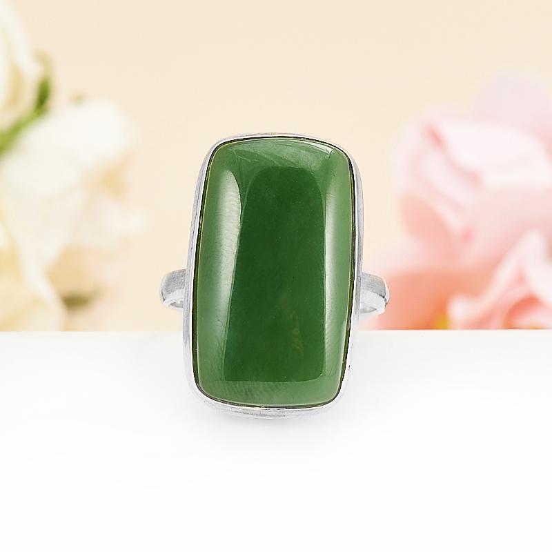 Кольцо нефрит зеленый  (серебро 925 пр.) размер 17,5 кольцо авантюрин зеленый серебро 925 пр размер 23