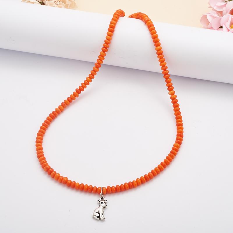 Бусы коралл оранжевый  51 см