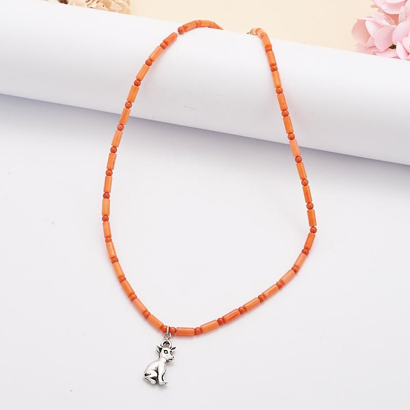 Бусы коралл красный, оранжевый  40 см бусы olere бусы