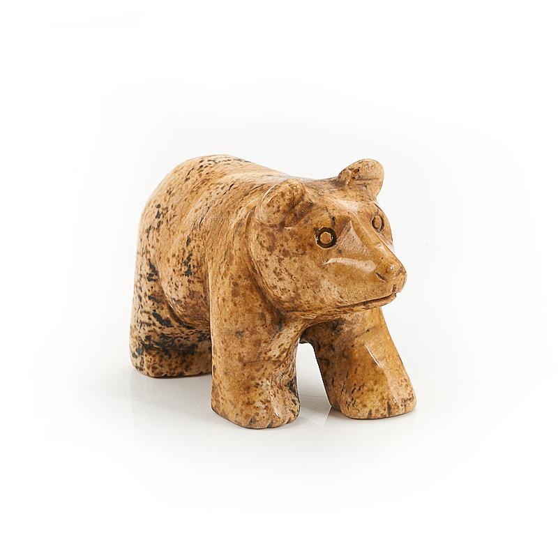 Медведь яшма рисунчатая 5 см лошадка яшма далматиновая 4 5 5 см