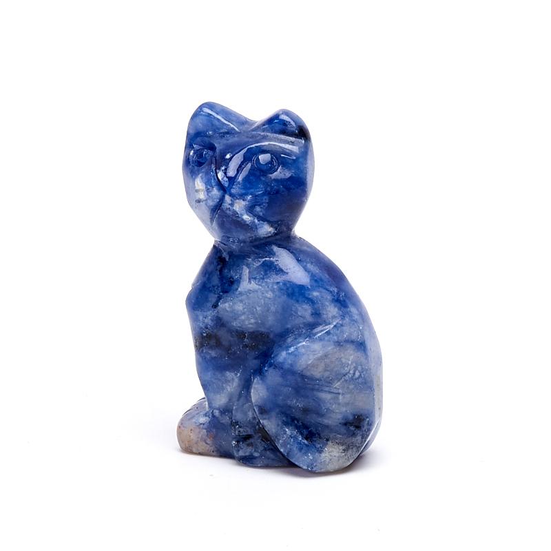 Котик содалит 3 см содалит брелок с натуральным камнем 5х10см