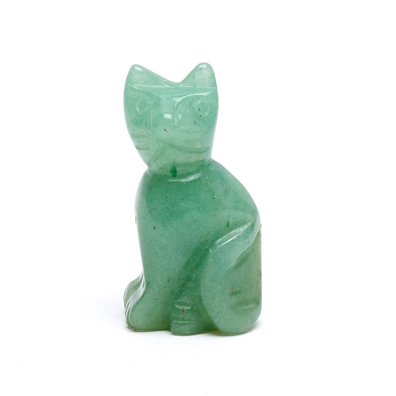 Котик авантюрин зеленый  3 см
