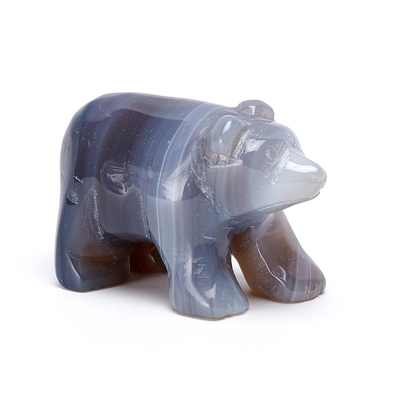 Медведь агат серый 5 см собака агат серый 5 см