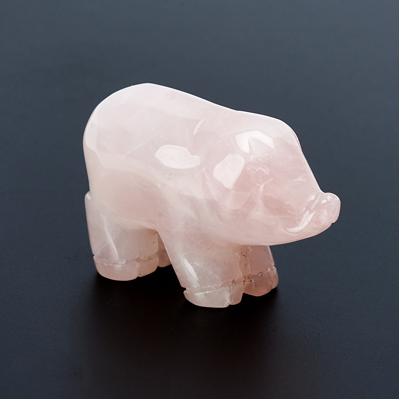 Свинка розовый кварц 4,5-5 см