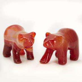 Медведь сердолик Ботсвана 5 см