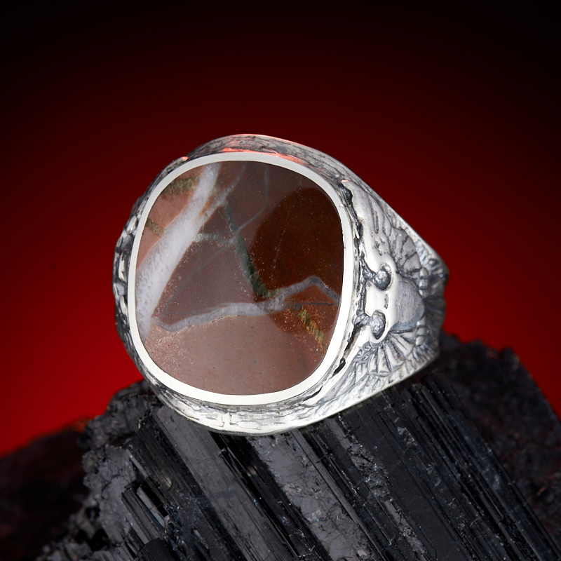 Кольцо яшма брекчиевая  (серебро 925 пр.) размер 19 кольцо виктория яшма