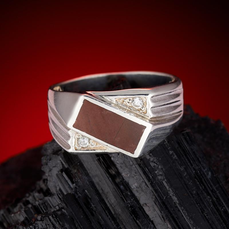 Кольцо яшма брекчиевая  (серебро 925 пр.) размер 20