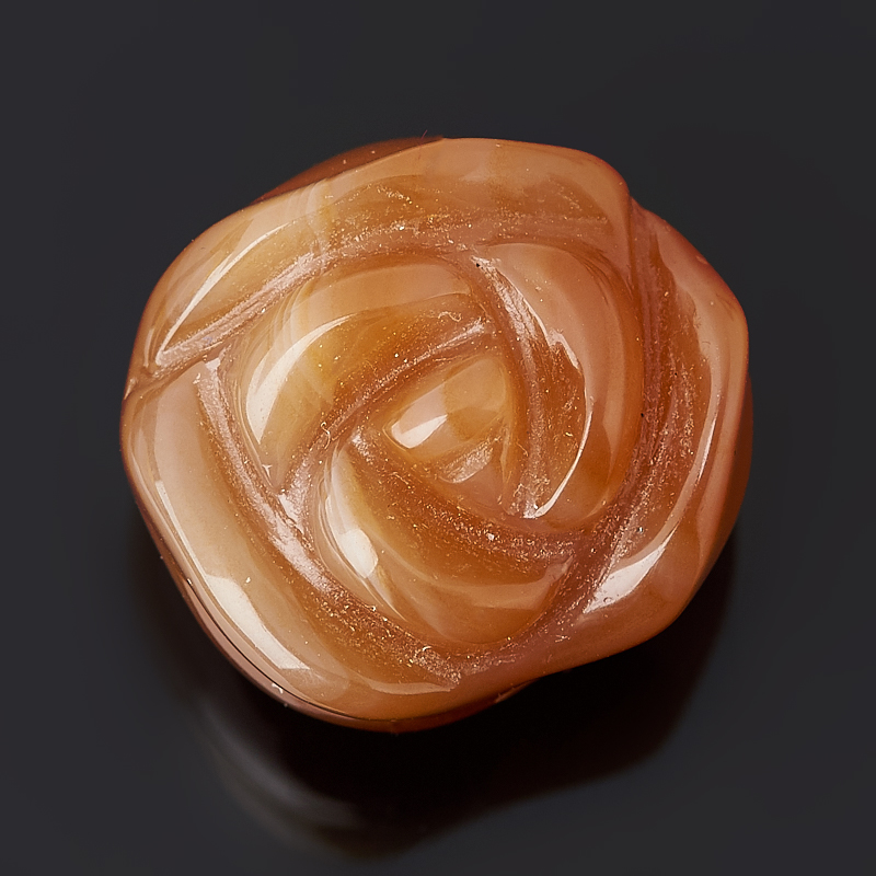 Пуговица роза сердолик 1,5 см