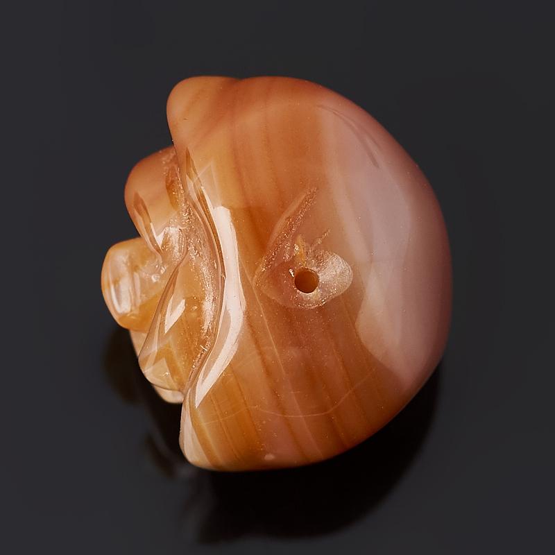 Пуговица роза сердолик Ботсвана 1,5 см